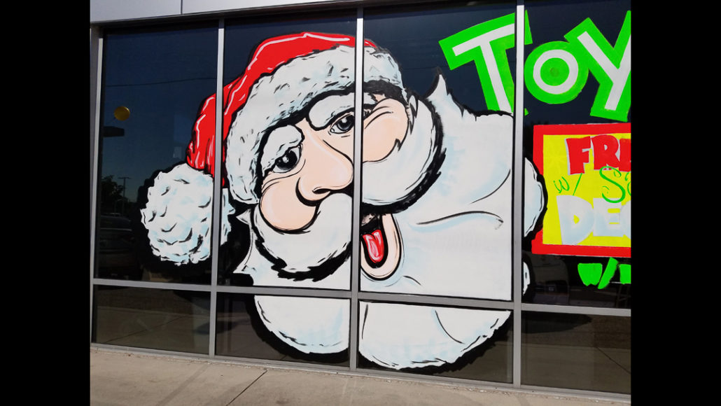 Seasonal Storefront Window Art By >> Seasonal Promotional Sales Window Painting Sign Painting Call