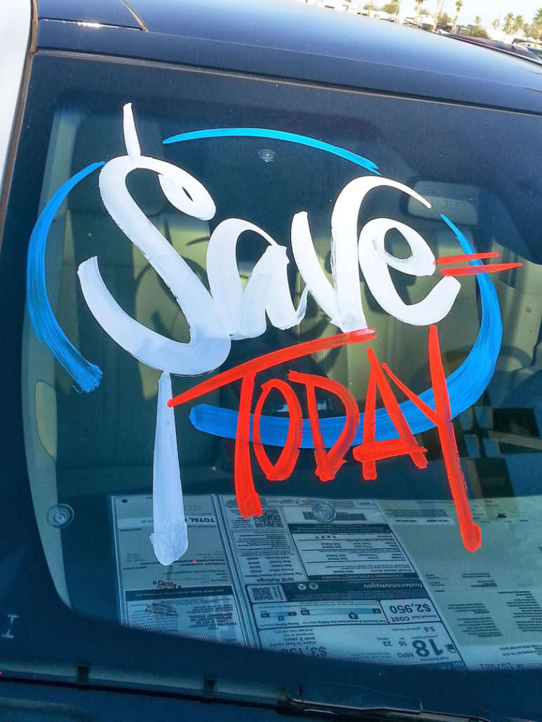 windshield painting | Window Painting & Sign Painting | call